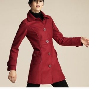 Anthropologie Jackets & Coats - Anthropologie Tulle brand red wool blend coat